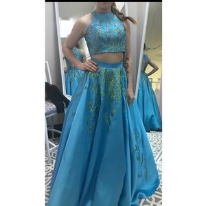 Two-Piece Ball Gown for Prom or Pageant